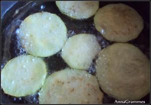 aubergines friture