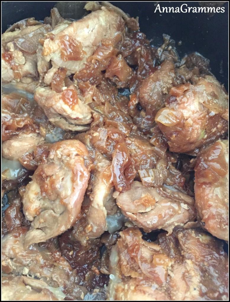 poulet caramélise